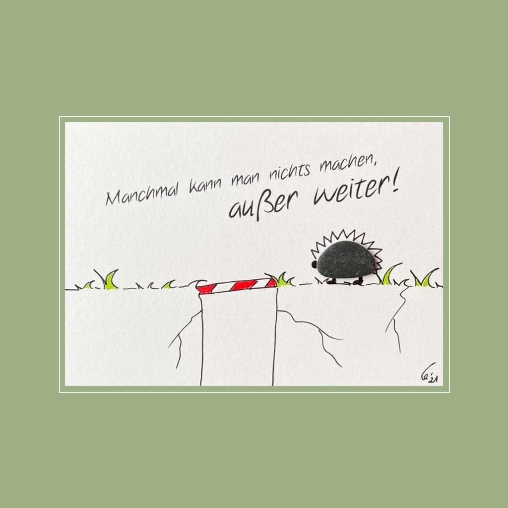 Spruchkarte Mut von Kieselsteinkunst.de