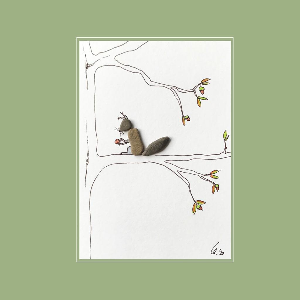 Eichhörnchen von Kieselsteinkunst.de