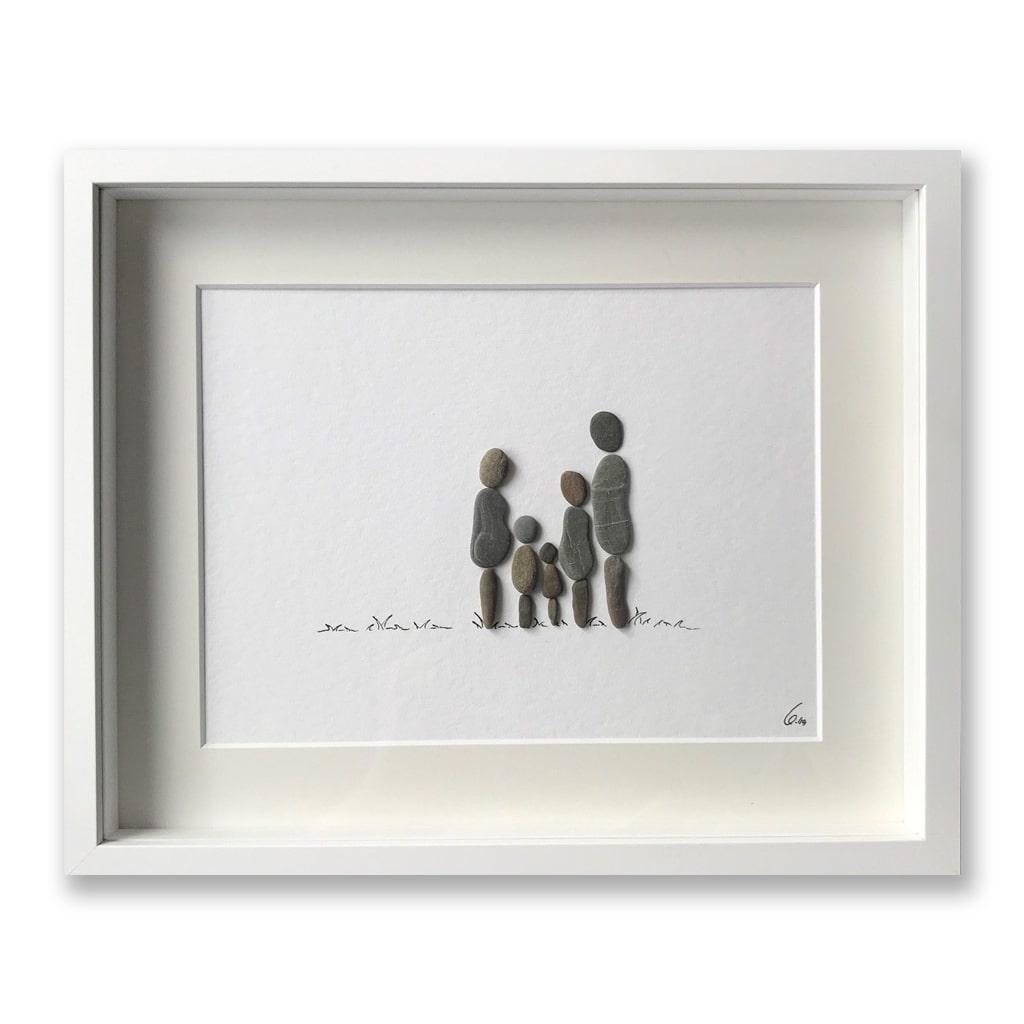 Familie 5 Personen von Kieselsteinkunst.de