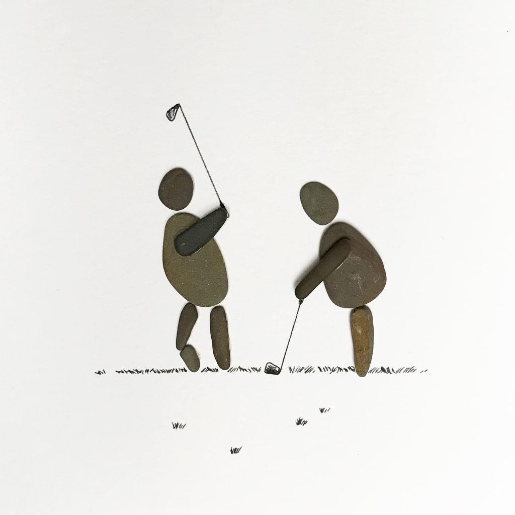 Golfer von Kieselsteinkunst.de