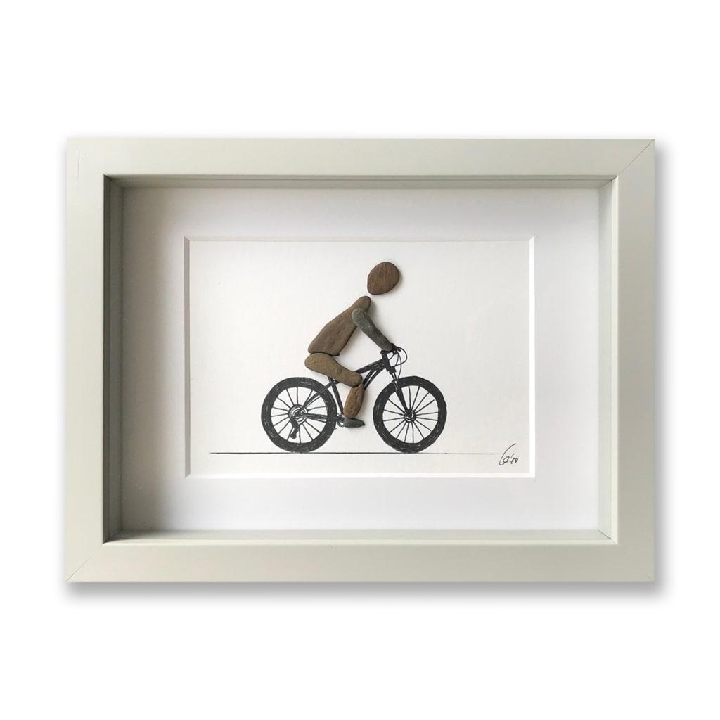 Radfahrer von Kieselsteinkunst.de