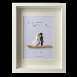 Personalisiertes Hochzeitsgeschenk von Kieselsteinkunst.de